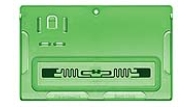 Plastic Gem Line cardholder embedded with an RFID tag enables it to be utilized by the Wi-Com Sensus solution.