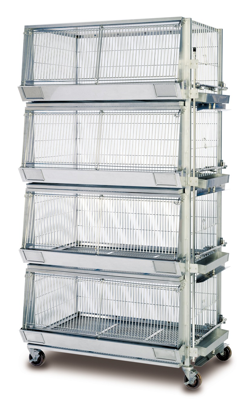 how to build a chicken battery cage