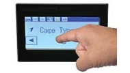 A detail image of the FreeFlow touchscreen control system